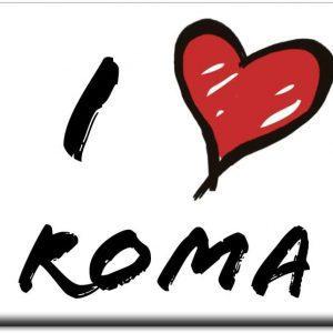 IMÁN I LOVE ROMA TRAZO