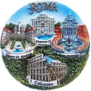 IMÁN SOUVENIR ROMA 3D VARIOS